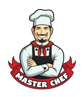 Mężczyzna master chef