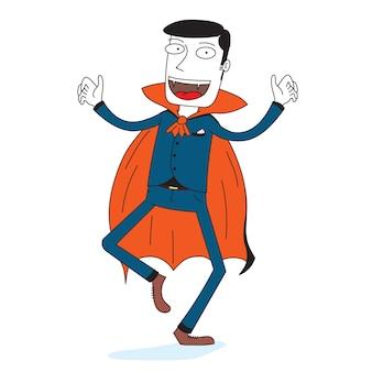 Mężczyzna nosi kostiumy na halloween jako wampiry