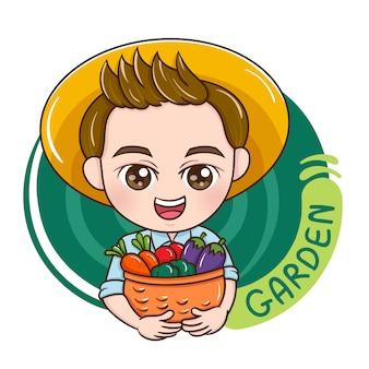 Mężczyzna ogrodnik