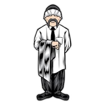 Mężczyzna postać gangstera chicano