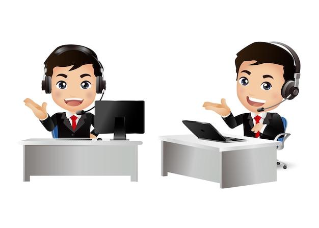 Mężczyzna pracownik w obsłudze klienta