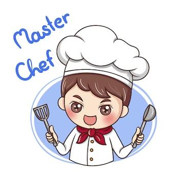 Mężczyzna szefa kuchni