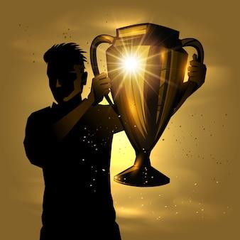 Mężczyzna trofeum