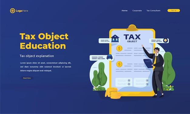 Mężczyzna wyjaśniający stronę docelową zgłoszonego obiektu podatkowego