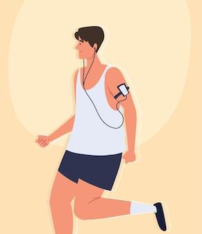 Mężczyzna wykonujący aktywność fizyczną