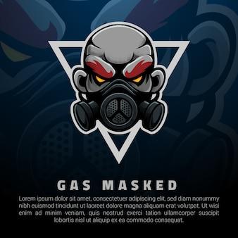 Mężczyzna z maską przeciwgazową