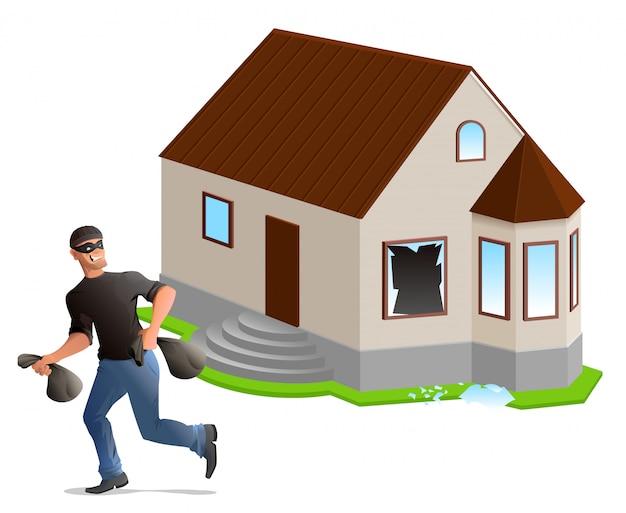 Mężczyzna złodziej okradł dom. ubezpieczenie domu