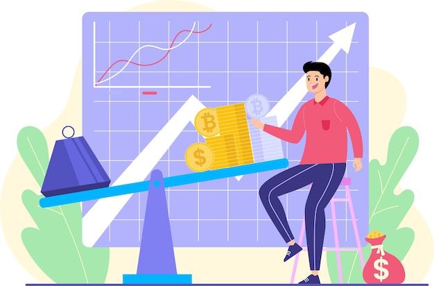 Mężczyźni analizują statystyki rozwoju sprzedaży i zakupów