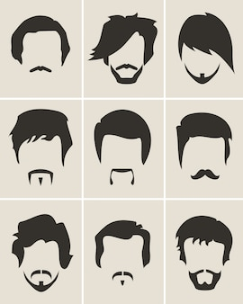 Mężczyźni broda i zestaw fryzura