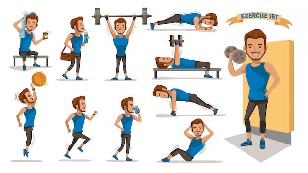 Mężczyźni ćwiczący