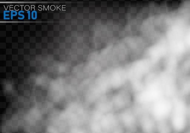 Mgła lub dym na białym tle przezroczysty efekt specjalny.