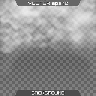 Mgła lub dym. realistyczna chmura, dym.