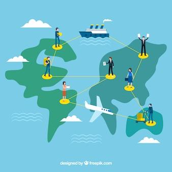 Międzynarodowy biznes koncepcja tło