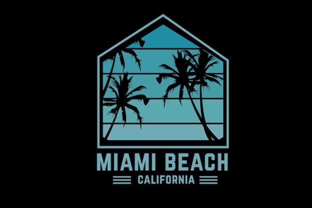 Miami kolor plaży zielony
