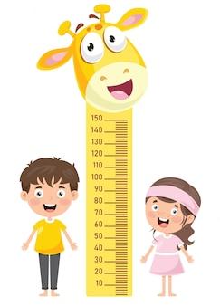 Miara wysokości dla małych dzieci