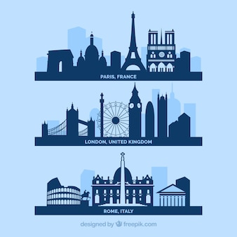 Miasta skyline europy