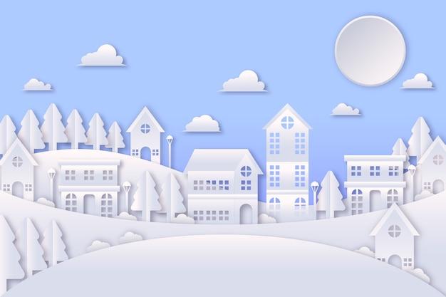 Miasto bożego narodzenia w stylu papierowym