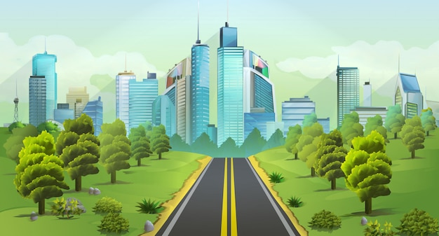 Miasto i przyroda, krajobraz