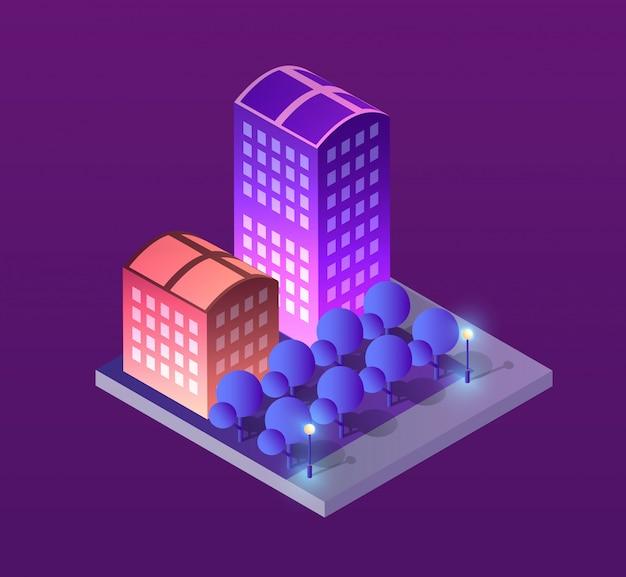 Miasto ilustracja koncepcja
