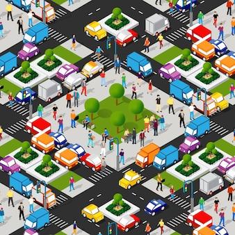 Miasto izometryczne 3d