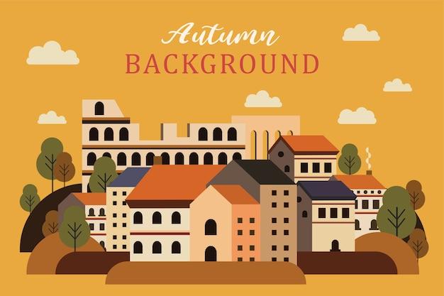 Miasto krajobraz jesienią