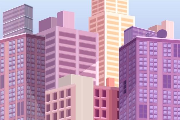 Miasto miejskie - tło do wideokonferencji