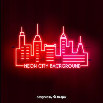 Miasto neonowe tło