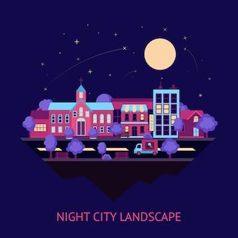 Miasto noc tle scape