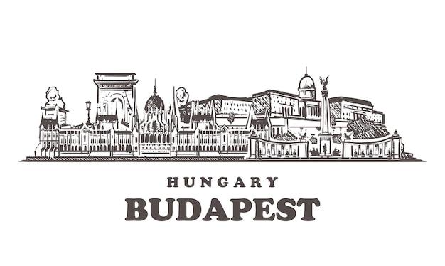 Miasto szkicu budapeszt, węgry
