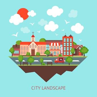 Miasto tła scape