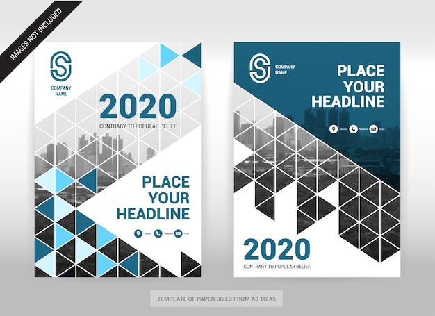 Miasto tło biznes okładka broszura szablon projektu. łatwy w użyciu.