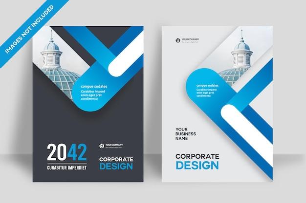 Miasto tło biznes szablon projektu okładki książki w formacie a4. możliwość dostosowania do broszury, raportu rocznego, czasopisma, plakatu, prezentacji firmowej, portfolio, ulotki, banera, strony internetowej.