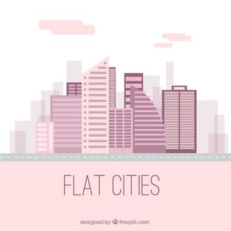 Miasto w płaskim stylu