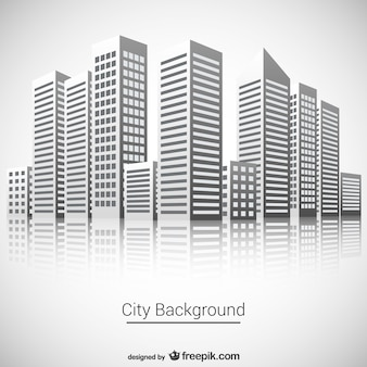 Miasto wektora tle