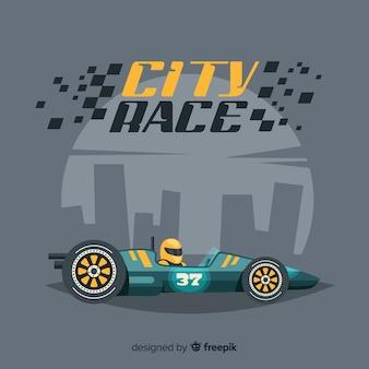 Miasto wyścig tło