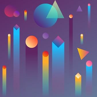 Miastowy abstrakcjonistyczny geometryczny gradientowy tło.