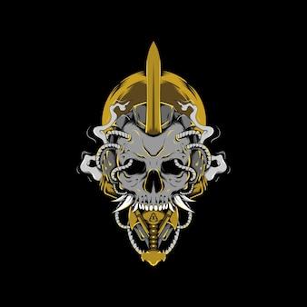 Miecz czaszka