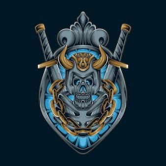 Miecz czaszki wikingów