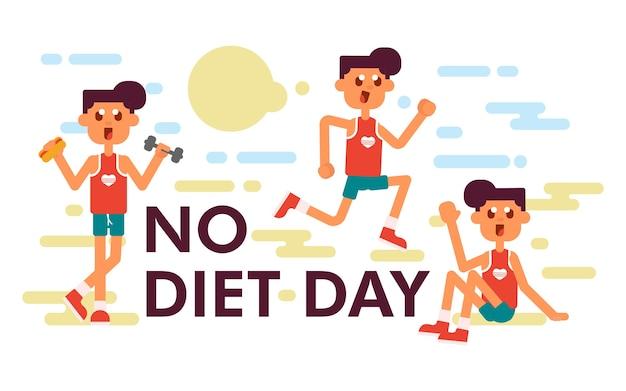 Międzynarodowa ilustracja dzień bez diety
