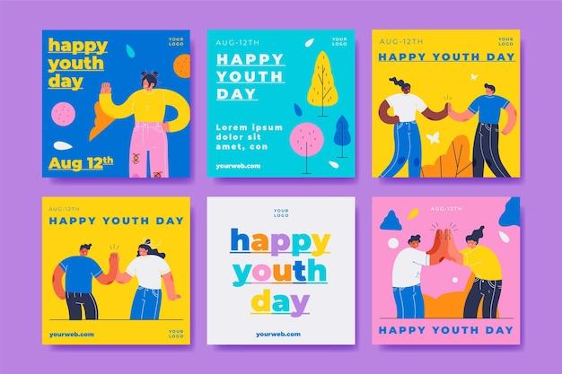 Międzynarodowa kolekcja postów z okazji dnia młodzieży