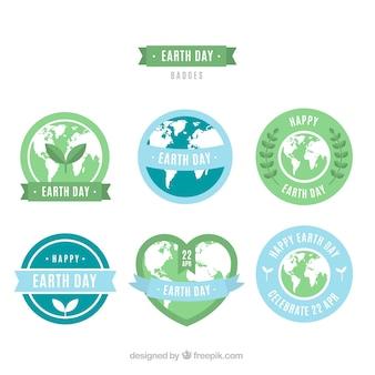 Międzynarodowe odznaki na ziemi w płaskiej konstrukcji