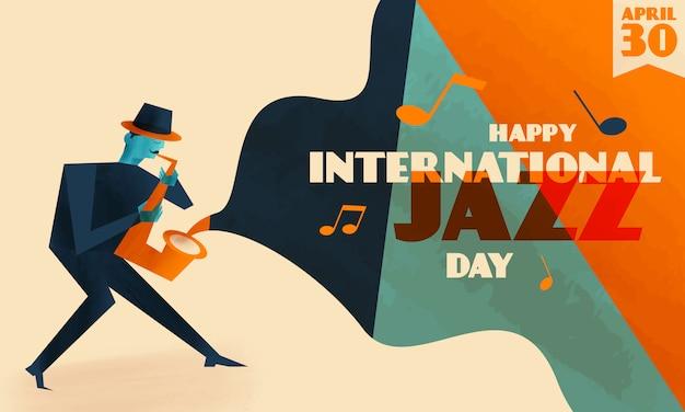 Międzynarodowe tło dnia jazzu