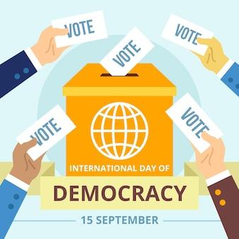 Międzynarodowy dzień demokracji ilustracja