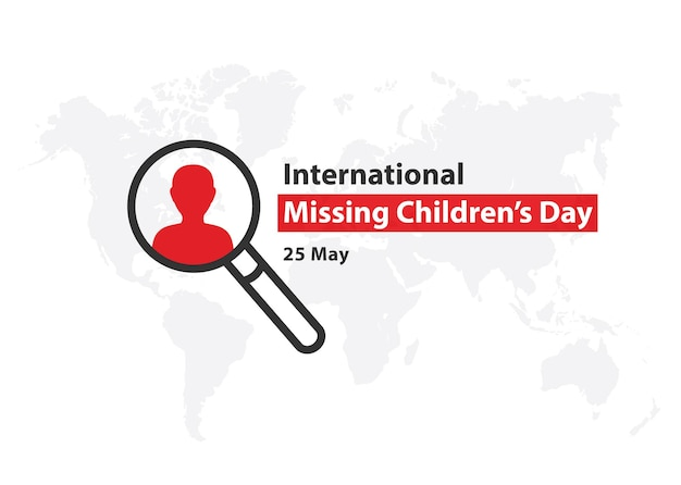 Międzynarodowy dzień dziecka zaginionych nie zapomnij o kwiatach zagubione dzieci ilustracja wektorowa