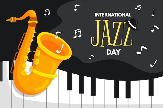 Międzynarodowy dzień jazzu płaska