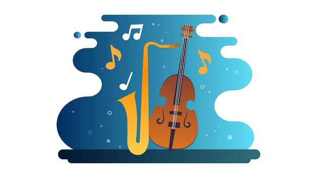 Międzynarodowy dzień jazzu tło ilustracja