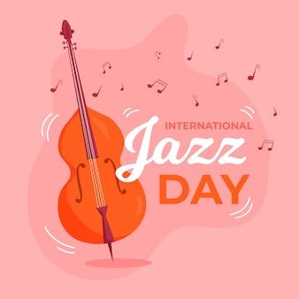Międzynarodowy dzień jazzu w płaskiej konstrukcji