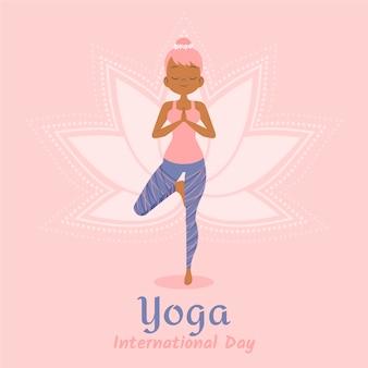 Międzynarodowy dzień jogi ilustracji