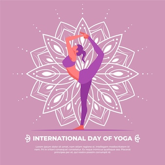 Międzynarodowy dzień jogi płaska konstrukcja