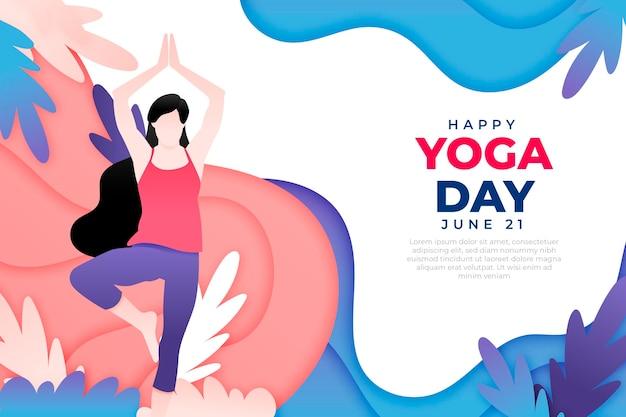 Międzynarodowy dzień jogi w stylu papierowym